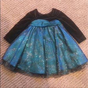 Beautiful Sparkly  Blue & Black Fancy Dress